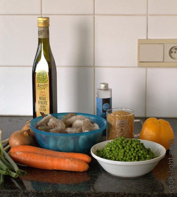 рис с овощами и креветками ингредиенты