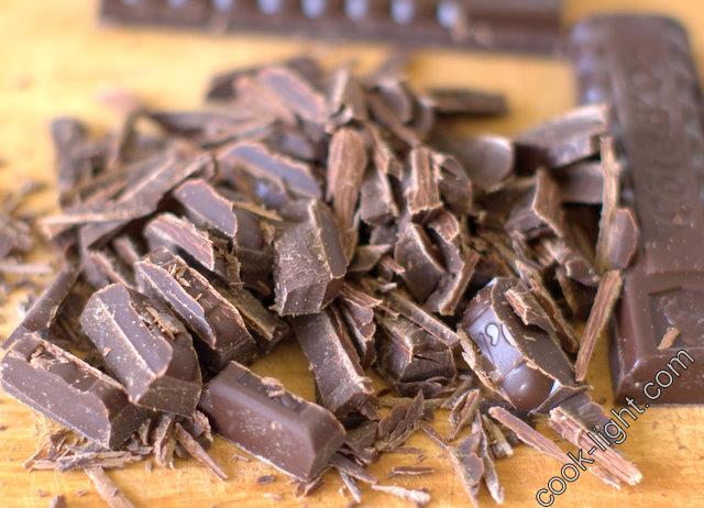 шоколад покрошить