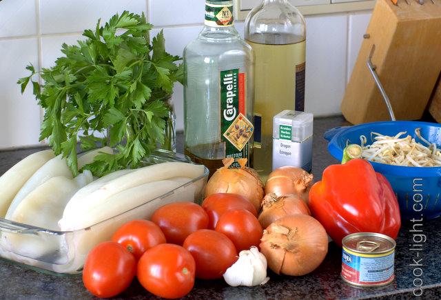 ингредиенты для соуса с кальмарами