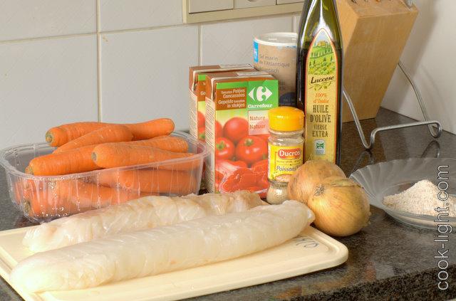 ингредиенты для маринада и рыба