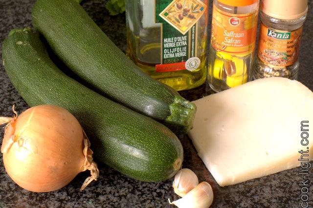 ингредиенты для супа из кабачков