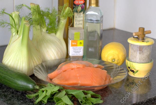 салат из фенхеля и лосося, ингредиенты
