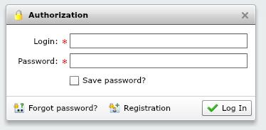 Имя и пароль пользователя