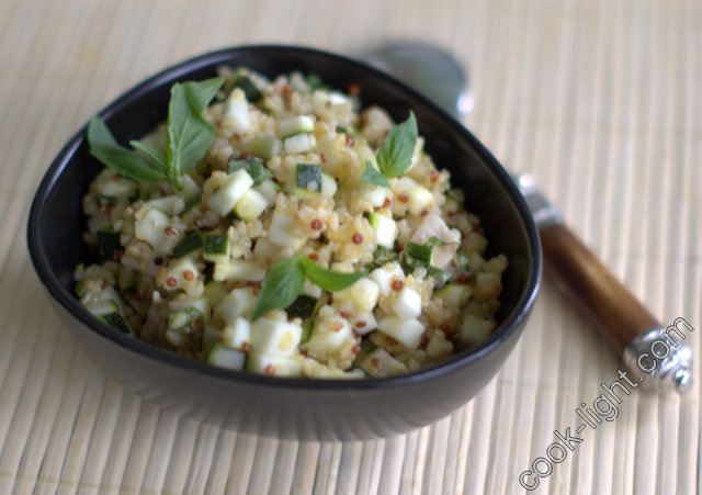 Салат из кабачка с курой