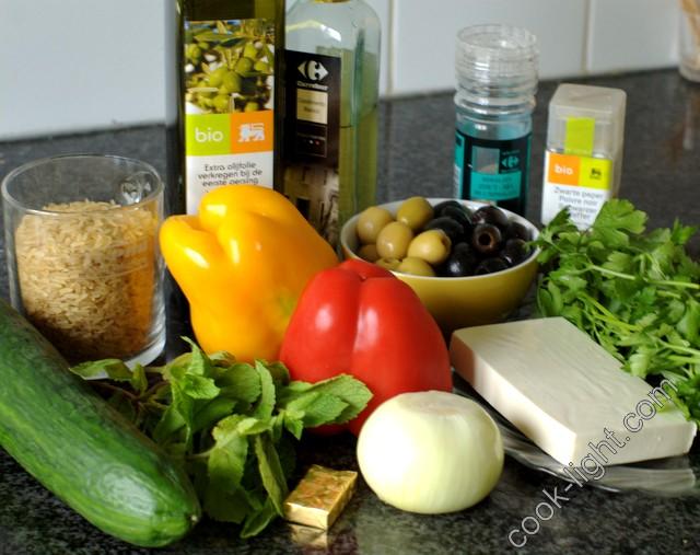 гречиский салат, ингредиенты